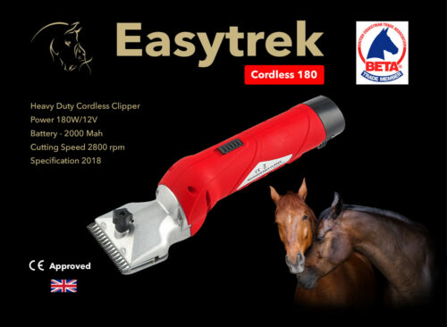 Easytrek Cordless horse clippers with 2 batteries heavy duty 180 Watts bargain