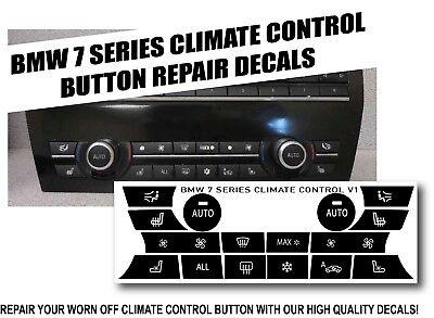 Bmw 7 Series Dash Climate Control Panel Button Repair Decal Kit