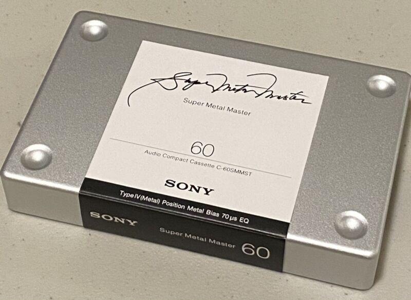 1 Complete Sony Super Metal Master 60 Audiophile Grade Stereo Cassette Tape