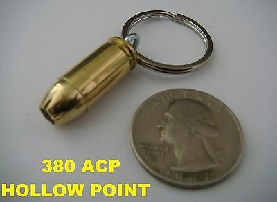 REAL BULLET KEYCHAIN 380 ACP HOLLOW POINT