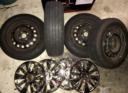 """Tyres (near new) & wheels 14"""" Kedron Brisbane North East Preview"""
