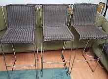 3 Wicker bar stools Mount Pritchard Fairfield Area Preview