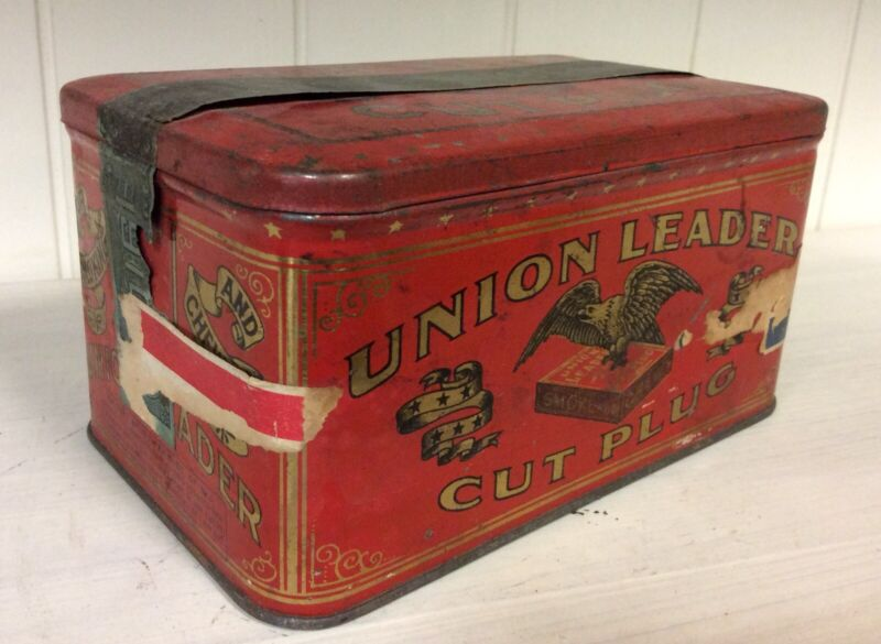 Central Union Cut Plug United States Tobacco Co. Vintage Tin, Good Condition