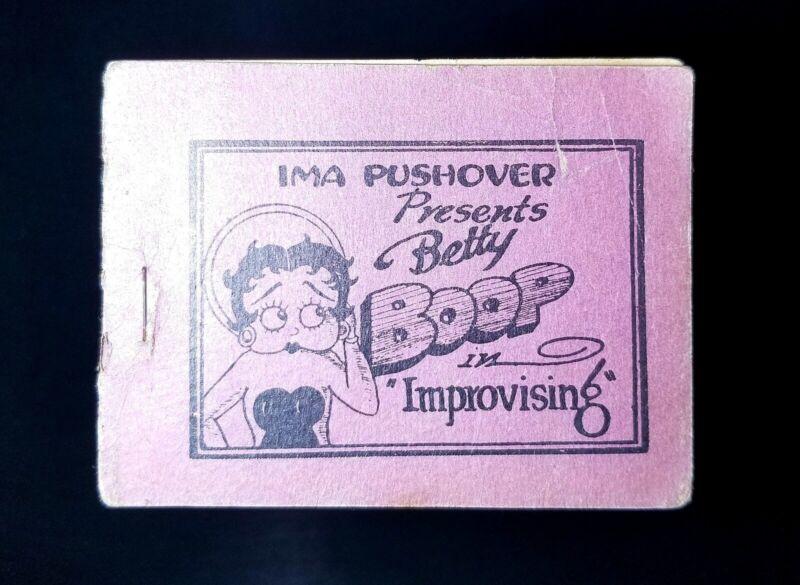 "1930s Betty Boop in Improvising ""Ima Pushover"" Booklet Vintage Book READ DESCR."
