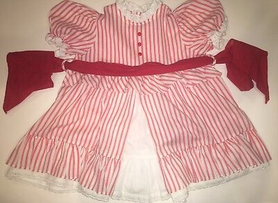 Vintage Girls Dress By Cinderella Red And White