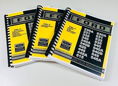 Ford 230a 231 335 340 340a 340b Industrial Tractor Service Repair Manual