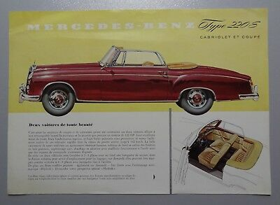V01359 MERCEDES TYPE 220 S COUPE & CABRIOLET