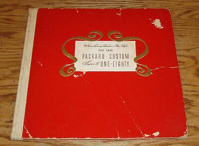 Original 1940 Packard Custom Super 8 One-Eighty Hardcover Sales Brochure 40 for sale  Reinbeck