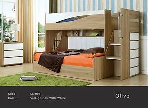 Children's bunk beds, Gas lift storage bunk + desk, from $700 Yagoona Bankstown Area Preview