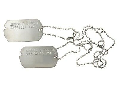 "James B Barnes ""Bucky"" and Steven G Rogers Captain America Combo Dog ID Tag Set"