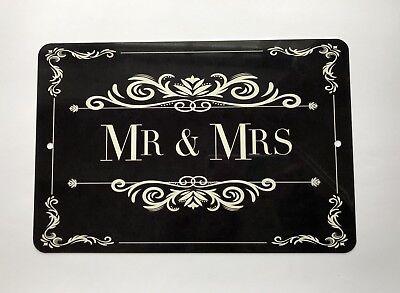 Mr and Mrs Sign- Wedding Decor - Wedding Gift - 12x8 Sign - Wedding Bar Sign (Wedding Bar Signs)