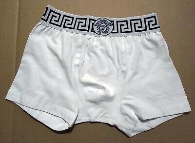 Versace Guaranteed Authentic White Trunk Briefs Men's Underwear Medusa Greca New