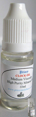 Priory Clock Oil -10ml - Free 1st Class Postage