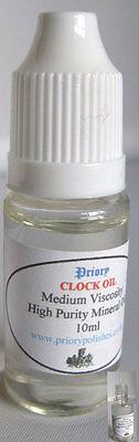 Priory Clock Oil -10ml - Free 1st Class Postage