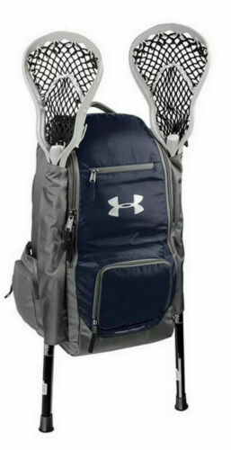 Under Armour UASB-LBP2 Unisex Blue and Grey LAX Lacrosse Backpack 42 L Bag $80+