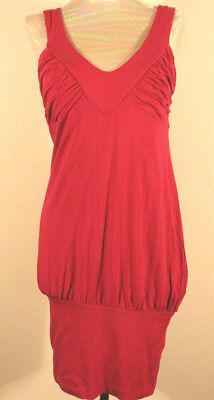 XS BEBE Sport Fuchsia Pink Cotton Gathered Bust Band Hem Short Dress Small 0 2