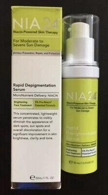 NIA 24 RAPID DEPIGMENTATION SERUM 1 FL OZ For Moderate To Severe Sun Damaged NIB