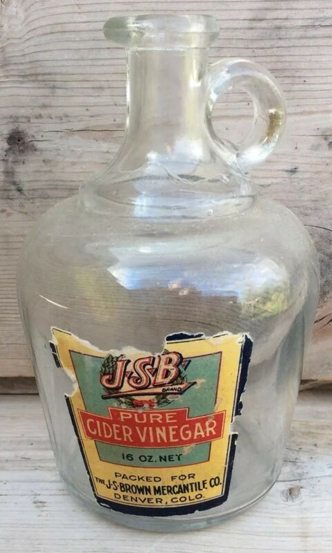 Vintage JSP Brand Pure Cider Vinegar Quart Bottle