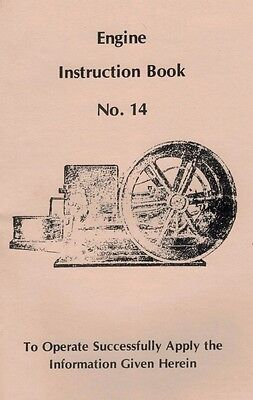 Witte Gas Engine Motor Instruction Book No 14 Kerosene Spark Flywheel Bosch Mag
