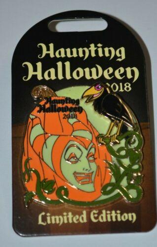 Disney Maleficent & Diablo Pumpkin Haunting Halloween Pin LE Glow In Dark