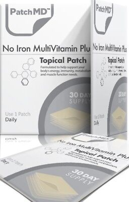 PatchMD No Iron Multivitamin Vitamin Plus-30 patches AUTHENTIC, BEWARE OF FAKES