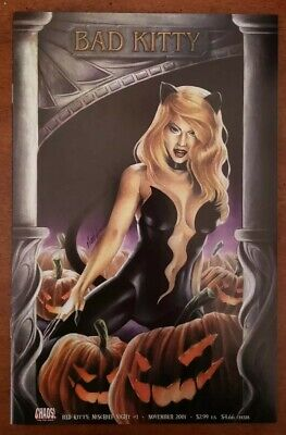 Chaos BAD KITTY MISCHIEF NIGHT COMIC #1 HALLOWEEN PUMPKINS NOV 2001 NM - Halloween Mischief