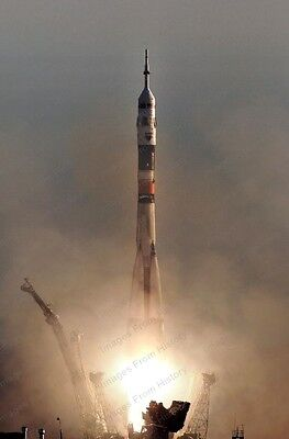 2 8x10 Print Launch Soyuz Rocket Russian Space Agency Expedition 13 #SR1