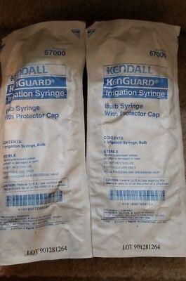 Kendall Irrigation Bulb Syringe W Protector Cap Sterile 60cc Wound Vet Medical