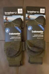 2 pairs of brasher trekmaster mens socks