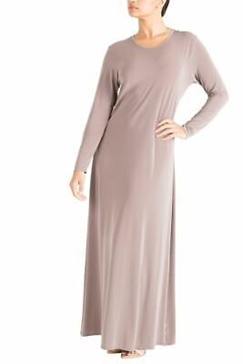 Womens Plain Simple Abaya Islamic Burkha Kaftan Jilbab Jersey Maxi Dress
