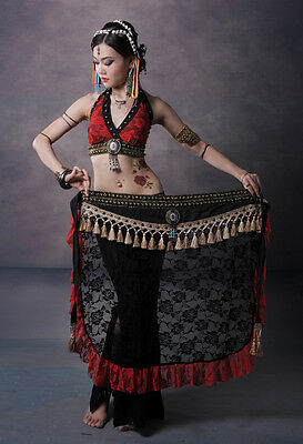 D733 Tribal Vintage Bauchtanz Kostüm Fasching Karneval Belly Dance Lace Costume