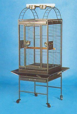 NEW Lahaina Lanai Open Playtop Bird Parrot Cage with Seed Guard Rolling Stand643