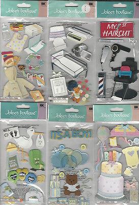 U CHOOSE  Assorted Jolee's BABY LONG 3D Stickers diaper bag stork shower bib  - Baby Stork