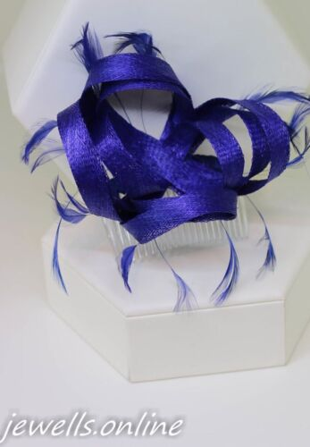 Small Royal Blue Fascinator Royal Wedding Ladies Race Day Hair comb Accessories