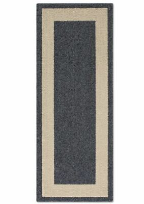 Classic Border 2-Foot x 5-Foot Accent Rug in Heather ()