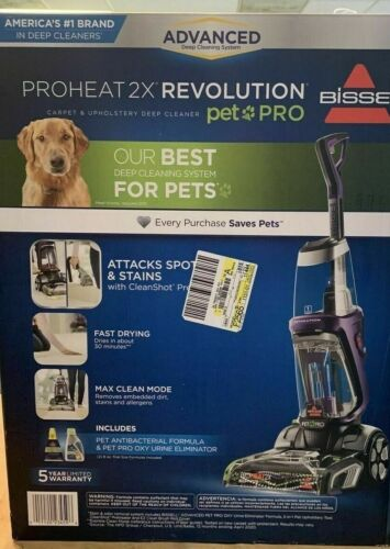 BISSELL Proheat 2X Revolution Pet Pro Full-Size Carpet Cleaner 1964
