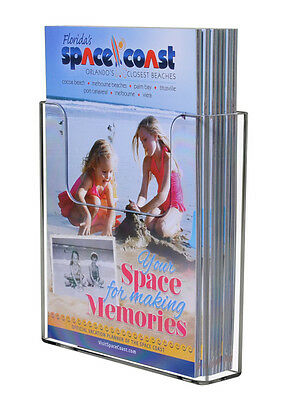 Clear Acrylic Brochure Holder For 6w Literature Wall Or Counter Lot Of 2