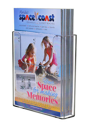 Clear Acrylic Brochure Holder For 6w Literature Wall Or Counter