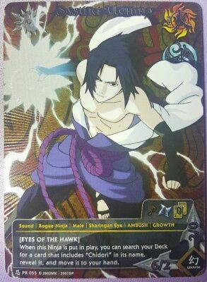 - Naruto CCG Sasuke Uchiha [Eyes of the Hawk] PR055 Promo FOIL card. Mint
