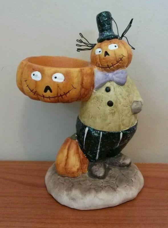 Yankee Candle Company Halloween Pumpkin Man Tea Light Holder
