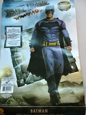 Adult Men's Justice League Batman Costume Muscle Chest X-Large