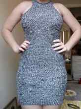 Grey knit fitted dress Arncliffe Rockdale Area Preview