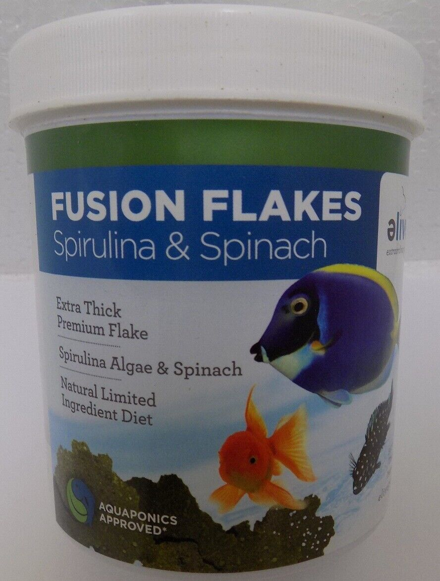 THICK Spirulina Algae/Spinach Premium Flakes Tropical 3 Oz Fish Food Marine F/S - $6.99