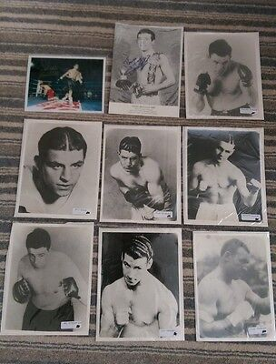 ** BOXING PHOTOGRAPH BUNDLE 9 ITEMS - 1 AUTOGRAPHED **