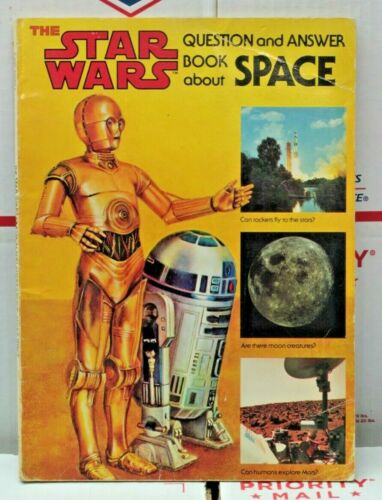 The Star Wars Question and Answer Book About Space 1979  Scholastic Paperback