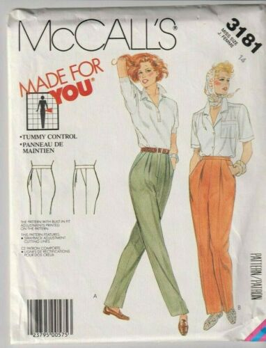 3181 McCALLS - Highwaisted PANTS w Tummy Control - Sz 14