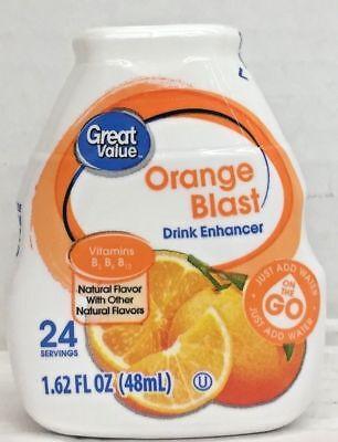 Great Value Orange Blast Liquid Water Drink Enhancer 1.62 oz Drink Mix Orange Blast