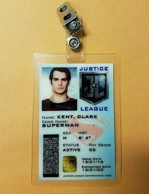 Superman Clark Kent Kostüm (Gerechtigkeitsliga Id-Plakette - Clark Kent Superman Cosplay Requisite Kostüm)