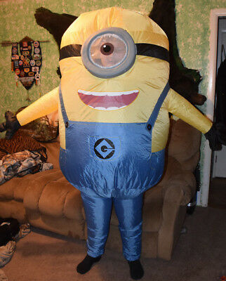 STUART ~ Minion ~ Despicable Me ~ Inflatable Costume ~ Adult - Minion Costumes Adults