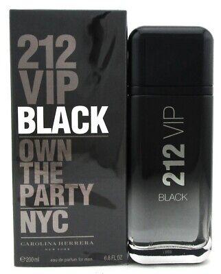 212 VIP BLACK Cologne by Carolina Herrera 6.8 oz. EDP Spray for Men. New